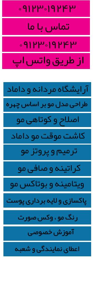خدمات آرایشگاه مردانه و داماد تهران
